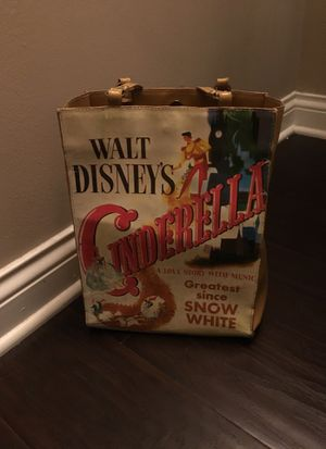"Walt Disney's Cinderella vinyl tote bag, ""A Love Story With Music, Greatest Since Snow White"" for Sale in Westerville, OH"