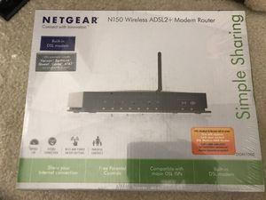 Netgear N150 Wireless ADSL2+ Modem Router for Sale in Frisco, TX
