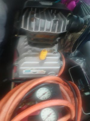 HYPER TOUGH PORTABLE. AIR COMPRESSOR AND AIR TOOLS for Sale in Salem, VA