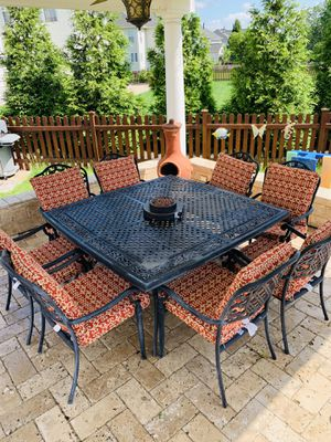 Cast Aluminum 10 piece dining table for Sale in Centreville, VA