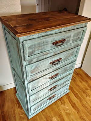 New Rustic Turquoise Dresser Chest of Drawers for Sale in Chula Vista, CA