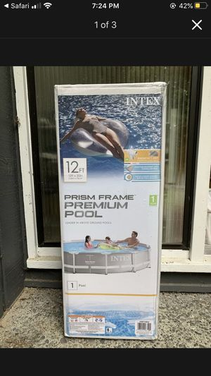 INTEX 12FT x 30in PRISM FRAME PREMIUM POOL for Sale in Pepper Pike, OH