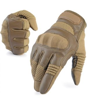 Leather Tactical Gloves - Hunting Airsoft Shooting Combat Mens for Sale in Hoffman Estates, IL