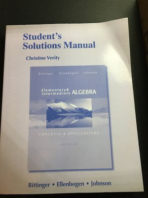 Student's solution Manual for Sale in Huntington Park, CA