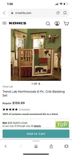 TREND LAB BABY CRIB BEDDING SET (WITH EXTRAS!!!) for Sale in Vancouver, WA