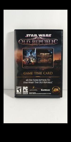Star Wars The Old Republic 60-Day Game Time Card for Sale in San Antonio, TX