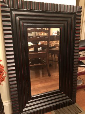 Black mirror with red accents for Sale in Morgantown, WV