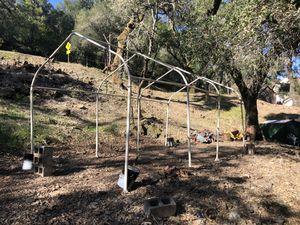 FREE....20x10 canopy frame with cement weights for Sale in St. Helena, CA