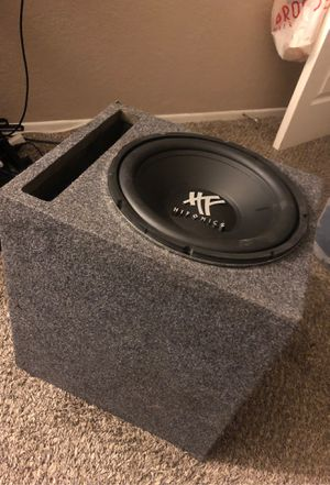 Hifonics 800 wat 12 inch sub 400 rms in ported box for Sale in Rialto, CA