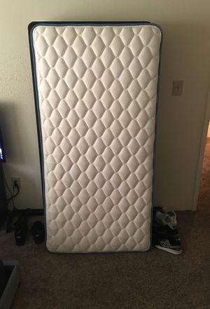 Twin Mattress, Box Spring, and Bed Rails for Sale in Raleigh, NC