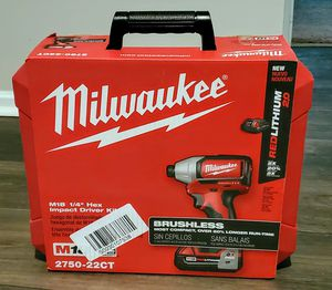 """Milwaukee M18 1/4"""" Hex Impact Driver Kit for Sale in Charlotte, NC"""