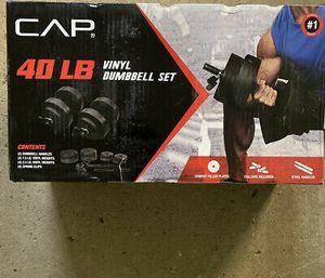 CAP 40lb adjustable dumbbell set for Sale in Seattle, WA
