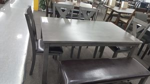 6 PC Dining Set, Grey for Sale in Fountain Valley, CA
