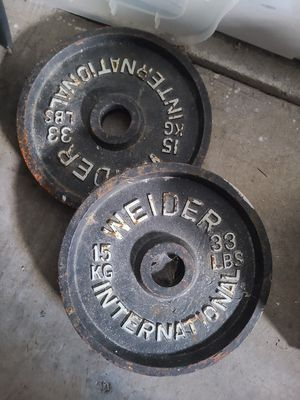 Weider International 33lbs weight plate set for Sale in Federal Way, WA