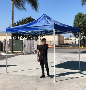 Brand New $100 Blue 10x10 Ft Outdoor Ez Pop Up Wedding Party Tent Patio Canopy Sunshade Shelter w/Bag for Sale in Pico Rivera, CA
