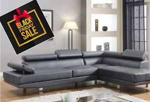 Sectional Grey Leatherette for Sale in Pompano Beach, FL