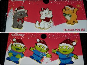 Disney Christmas Pins Aristocats Toy Story Alien Little Green Men Holiday for Sale in Hillsboro, OR