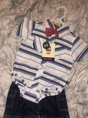 Baby boy outfit with bow tie for Sale in Reedley, CA