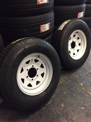 ST 225/75/15 trailer wheels for Sale in Houston, TX