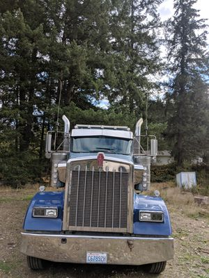 2009 Kenworth W900L Dump Truck and Pup Trailer for Sale in Fox Island, WA