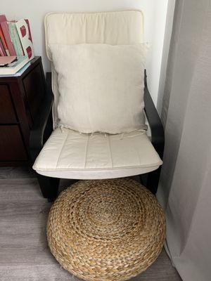 Ikea chair with ottoman for Sale in Margate, FL
