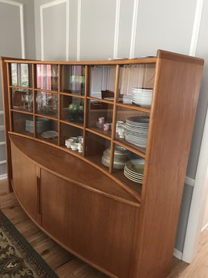 Contemporary, curved design, all teak - absolutely stunning dining room buffet / sideboard - price negotiable for Sale in Orange, CT