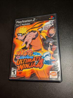 Naruto ultimate Ninja 4 PS2 for Sale in Sacramento, CA
