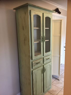 Tall Coastal Wood Cabinet for Sale in Fort Myers, FL