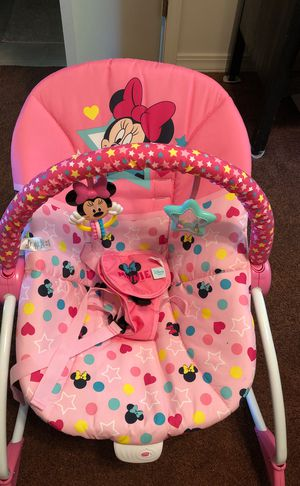 Disney baby vibrating bouncer. Used once for niece. for Sale in Homer, LA