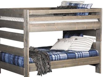 Twin Over Twin Wood Rustic Bunk Beds for Sale in Denver,  CO