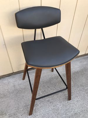 Wood and Bonded Leather Barstool for Sale in Orangevale, CA