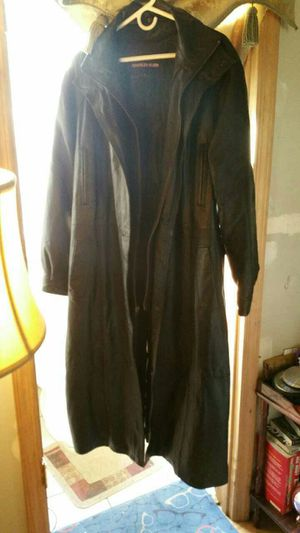 Long leather coat for Sale in Pittsburgh, PA