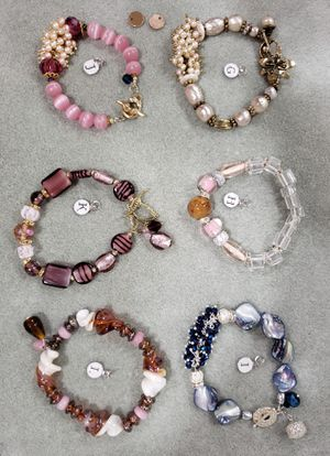 Beads Stone, glass, rhinestones, gems Bracelets for Sale in Manassas, VA