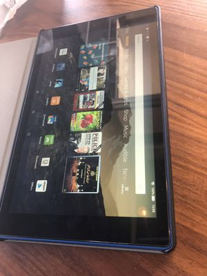 Amazon fire HD tablet 10 inch movies shoes channels box and accessories for Sale in Hayward, CA