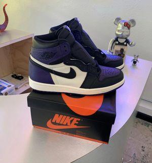 Jordan 1 retro court purple 1.0 for Sale in Harlingen, TX
