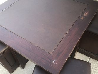 Square Wood Coffee Table With Hidden Ottomans & Storage for Sale in Buda,  TX