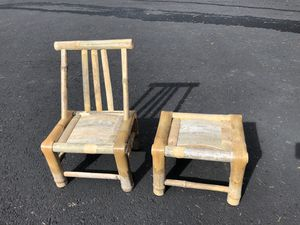 Small Chinese Bamboo Stools and Chairs for Sale in North Plains, OR