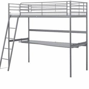 IKEA twin loft bed with Desk for Sale in Braintree, MA