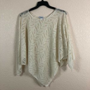 Avenue - Poncho - Women - Top - Lace Shirt - Beige - One Size for Sale in Pembroke Pines, FL