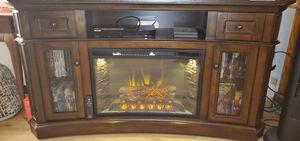 Scott Living 60-in W Walnut Infrared Quartz Electric Fireplace for Sale in Concord, CA