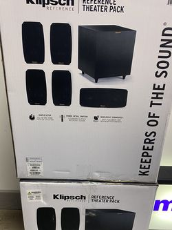 Klipsch Reference Theater Pack 5.1 Channel Surround Sound System for Sale in Seattle,  WA