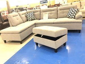 Brand new fabric sectional sofa with ottoman for Sale in Dallas, TX