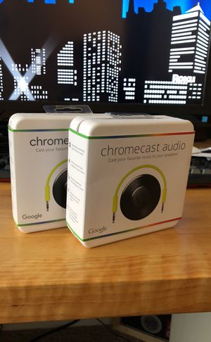 2 new in box NIB Google Chromecast Audio for Sale in Apex, NC