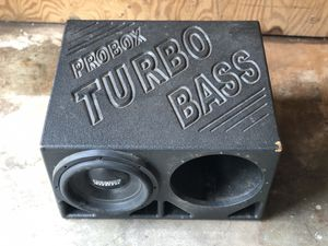 Subwoofer pro box for Sale in Richmond, TX