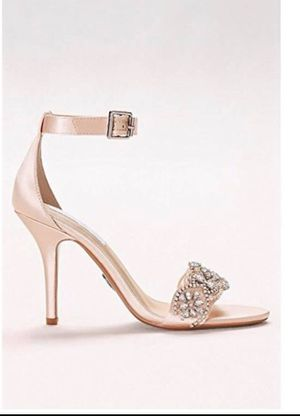Beautiful champaign bridal shoes $60 for Sale in Falls Church, VA