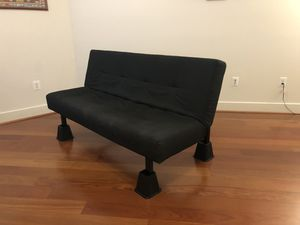 Black sleeper futon couch sofa bed for Sale in Hanover, MD