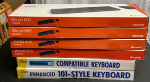 Lot-6 Microsoft Wired 600 & PC Concepts Computer Keyboard NEW for Sale in Los Angeles, CA