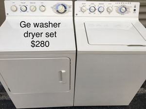 Ge washer dryer set / lavadora secadora for Sale in Miami, FL