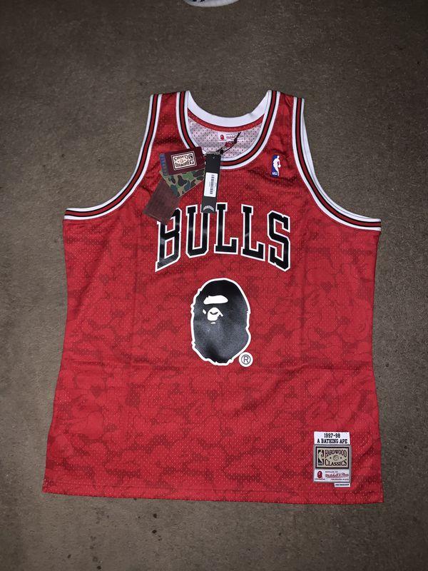 X For In Sale Sz Bulls Deerfield - Offerup Ness Mitchell Beach Xxl amp; Jersey Fl Bape