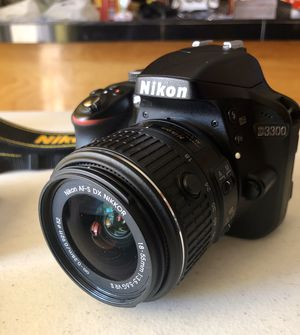 Nikon D3300 DSLR 24.2MP Camera & AF-S 18-55mm Zoom Lens for Sale in Glendale, AZ
